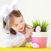 Little girl in Easter bunny ears — Stock Photo