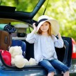 Adorable little girl in summer hat — Stock Photo #68759925