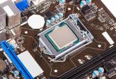 Electronic collection - CPU socket on motherboard — Stock Photo