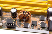 Electronic collection - Multiphase power system modern memory — Stock Photo