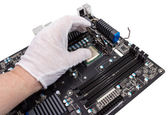Electronic collection - Installation of processor — Stock Photo