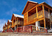 Wooden bungalows — Stock Photo
