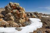 Plush Rocks near Baikal lake — Stock Photo