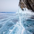 Rocks on winter Baikal lake — Stock Photo #52818399