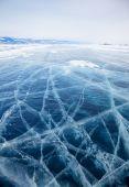 байкал льда в зимний период — Стоковое фото