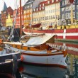 The boats and ships in Nyhavn, Copenhagen. — Stock Photo #54275155