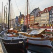The boats and ships in Nyhavn, Copenhagen. — Stock Photo #54275167