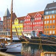 The boats and ships in Nyhavn, Copenhagen. — Stock Photo #54275193
