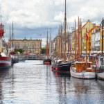 The historical ships in Nyhavn, Copenhagen. — Stock Photo #54275195