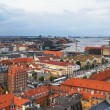 The bird's eye view from the Church of Our Saviour on Copenhagen — Stock Photo #54275353
