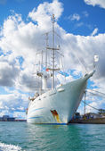 A big sailing ship in the harbour of Copenhagen. — Stock Photo