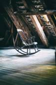 The rocking armchair on attic floor of Round Tower in Copenhagen — Stock Photo
