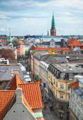 The view from the Round Tower in Copenhagen. — Stock Photo