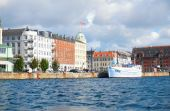 Havnegade in Copenhagen — Stock Photo