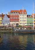 The Nyhavn canal in Copenhagen. — Stock Photo
