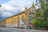 One of the Christiania house painted graffiti in Copengagen. — Stock Photo