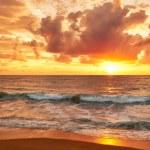Sunset on Mai Khao beach in Phuket — Stock Photo #59079415