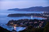 Sunset in western coast of Phuket island — Stock Photo