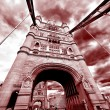 Tower Bridge  in marsala color — Stock Photo #60337075