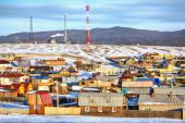 Khuzhir village near Baikal lake — Stock Photo
