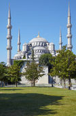 Blaue Moschee (Sultanahmet Camii) in Istanbul. — Stockfoto