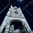 Collage of Solar Eclipse over Tower Bridge in London  — Foto de Stock   #67965363