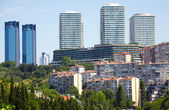 The view of skyscrapers in Besiktas municipality in Istanbul — Stock Photo
