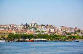 The view across Golden Horn, Istanbul — Stock Photo