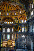 The interior of the Hagia Sophia with famouse Islamic elements,  — Stock Photo