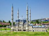 Miniaturk, Istanbul. The domes of Selimiye Mosque in Edirne, Tur — Stock Photo
