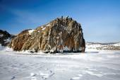 Rock and ice — Stock Photo