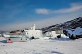 Winter ship — Stock Photo