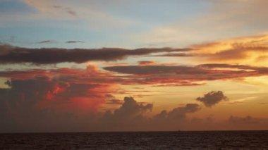 Landscape at sunset — Stock Video