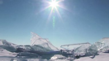 Ice landscape — Stock Video