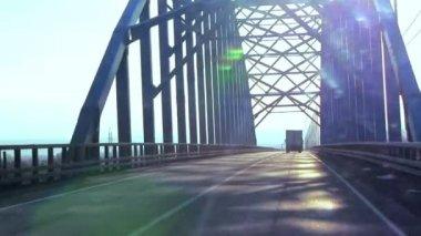 Bridge over Baikal — Stock Video