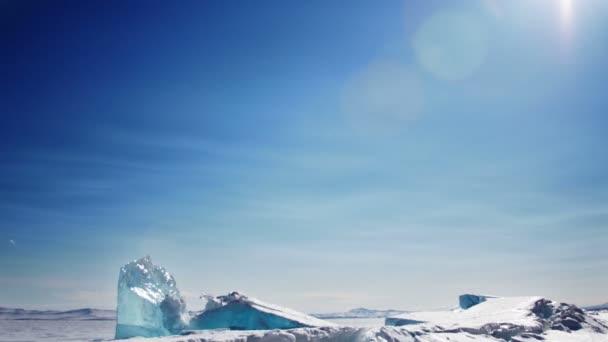 Paisaje de invierno baikal — Vídeo de stock