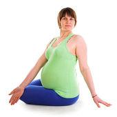 ヨガ妊娠中の女性 — ストック写真