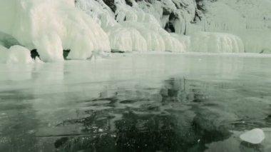 Winter Baikal lake in Siberia — Stock Video