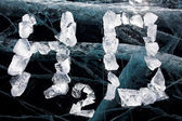 Water formula from ice — Stock Photo