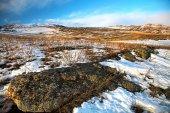 Winter lake Baikal — Stock Photo