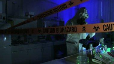 Hazardous Laboratory With Scientists — Stock Video