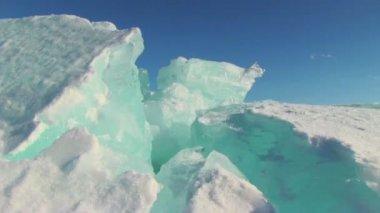 Winter lake landscape — Stock Video