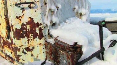 Eski paslı gemiler — Stok video