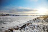 在贝加尔湖冬季景观 — 图库照片