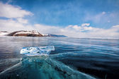 Baikal  ice floe — Stock Photo