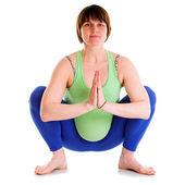Yoga per la donna incinta — Foto Stock