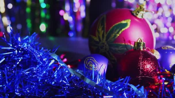 Christmas Balls and New Year Decorations — Vidéo