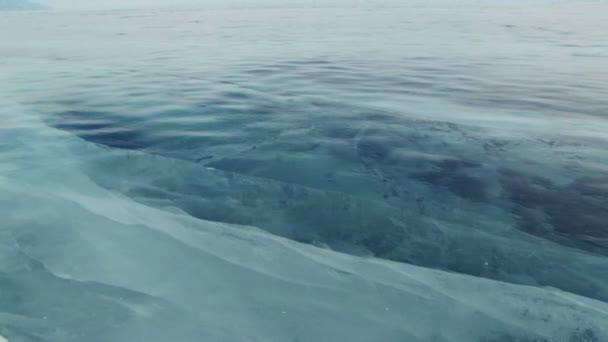 Lago baikal de invierno — Vídeo de stock
