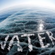 Word water made from ice — Stock Photo #62349097