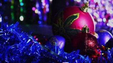Christmas Balls and Decoration — Stock Video